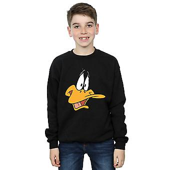 Looney Tunes jungen Daffy Duck Gesicht Sweatshirt