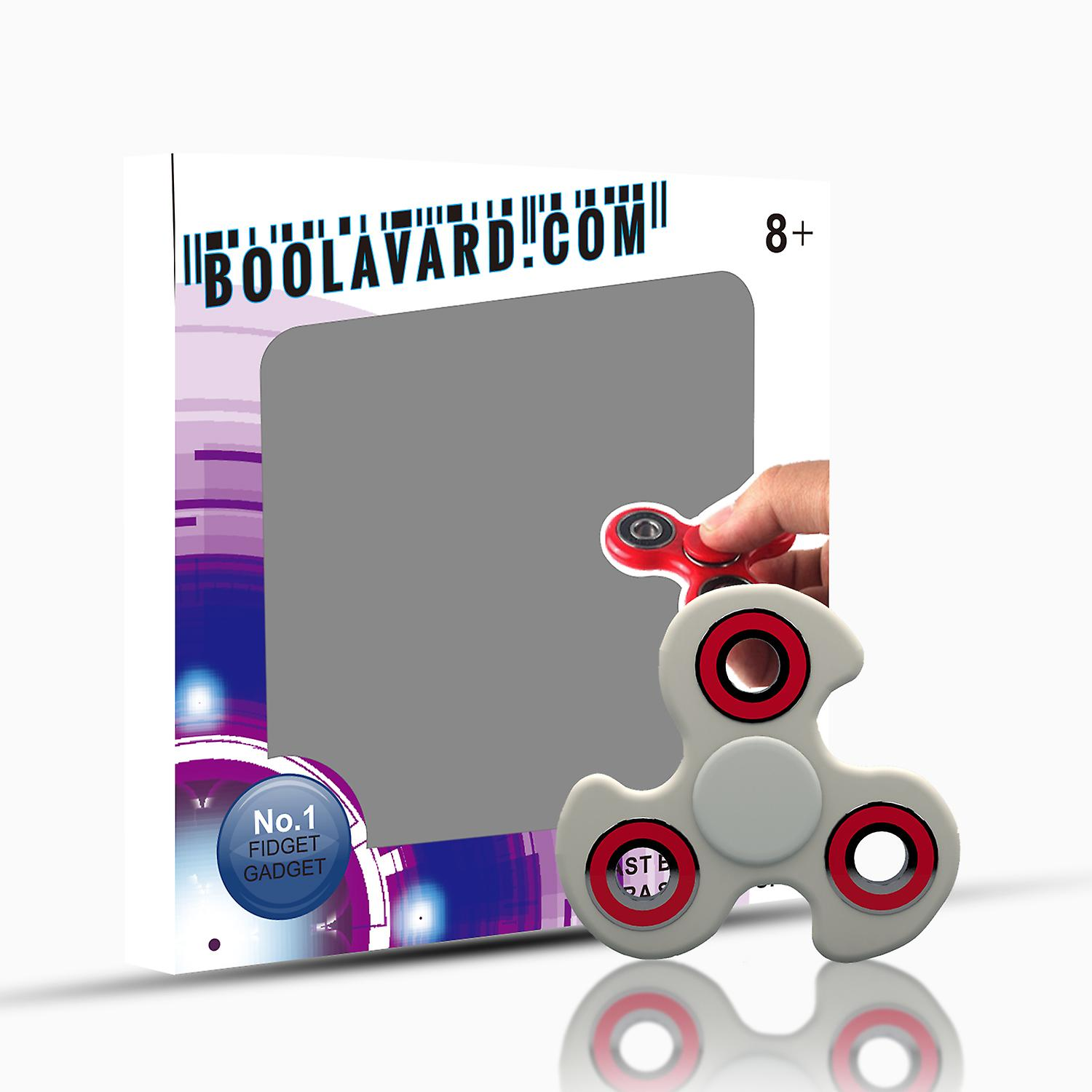 BOOLAVARD Hand Finger Spinner Toy for relieving ADHD, Anxiety, Boredom Fidget Toy Ultra Durable