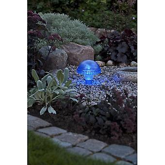 Konstsmide Assisi Blue Mushroom Solar Light