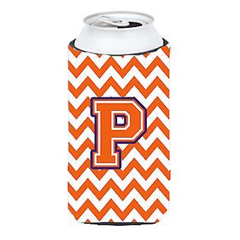 Буква P Шеврон оранжевый и регалии Талль Boy напитки изолятор Hugger