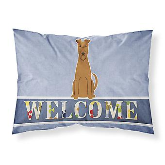 Irish Terrier Welcome Fabric Standard Pillowcase