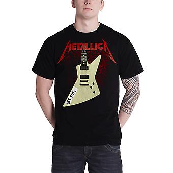 Metallica T Shirt Eet Fuk Hetfield Guitar Band Logo officielle Herre nye sort