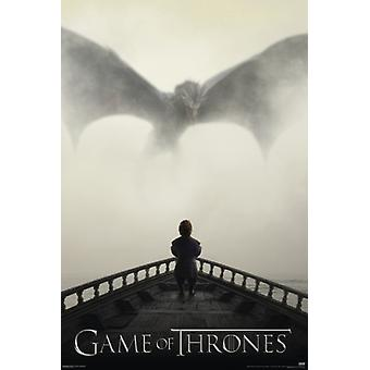 Game of Thrones - Tyrion Lannister & Dragon Poster Poster Print