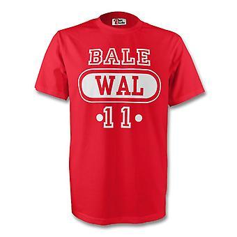 Camiseta Wal de Gales Gareth Bale (rojo) - niños