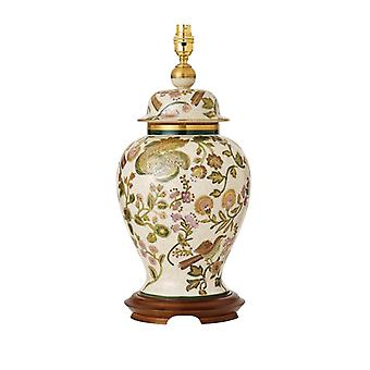 Baker Beckett Hand Painted Table Lamp With Gold And Mahogany - Base Only - Interiors 1900 Rj361
