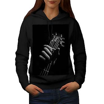 Arte Música Guitarra músico mujeres BlackHoodie | Wellcoda