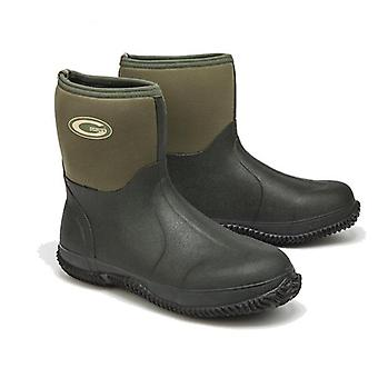 Grubs Field Mid Height 5.0 Wellington Boots in Moss Green