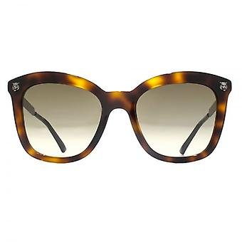 Gucci Tiger Pin Cateye Sunglasses In Dark Havana