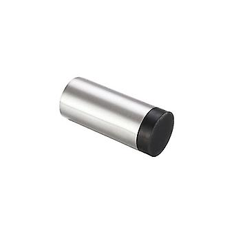 Zoo Door Stop - Cylinder W/o Rose - Tube - Satin Stainless - ZAS11SS
