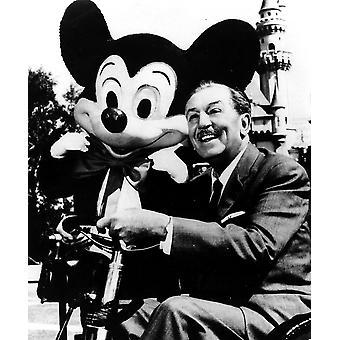 Walt Disney e impressão de foto do rato de Mickey