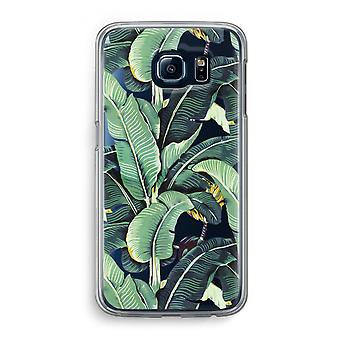 Samsung Galaxy S6 Transparent Case (Soft) - Banana leaves