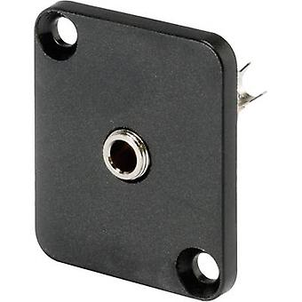3.5 mm audio jack Sleeve socket, straight pins Number of pins: 3 Stereo Black Hicon HI-J35SEFD 1 pc(s)