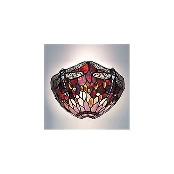 Interiors 1900 WF1 + TP2W Red Dragonfly Single Light Wall Fitting With