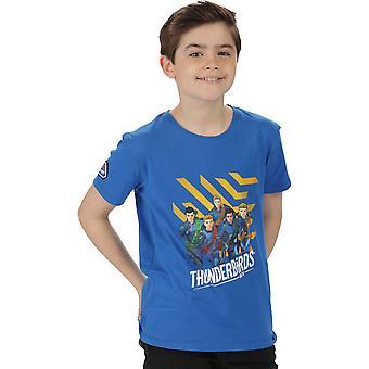 レガッタ男の子いま Coolweave コットン グラフィック ウォーキング T シャツ