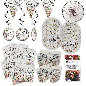 Confetti design party box 38 pieces decoration KONFETTI party party package