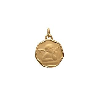 Medalla colgante bautismo mujer - hombre - niño Ángel y chapado en oro amarillo