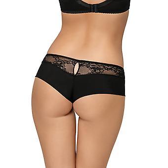 Gorsenia K424 Women's Nellie Black Lace Knickers Panty Brazilian Brief