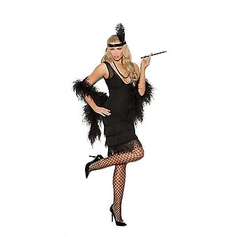 Elegant Moments Womens klassisk 1920-tal Gatsby stängnät Halloween Roleplay kostym