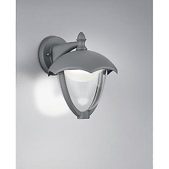 Trio illuminazione Gracht Classic antracite lampada da parete in alluminio pressofuso