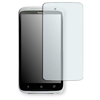 HTC one XL EU screen protector - Golebo crystal-clear protector (deliberately smaller than the display, as this is arched)