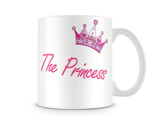 La taza impresa de princesa