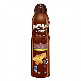 Hawaiian Tropic beskyttende tørr Solar olje i Argan Mint FP-15 Spray 180 ml