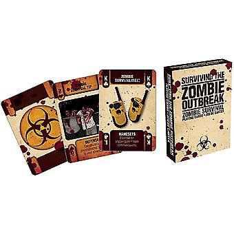 Surviving The Zombie Outbreak Set Of Playing Cards