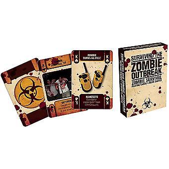 Sobrevivendo o Zombie surto conjunto de cartas de baralho