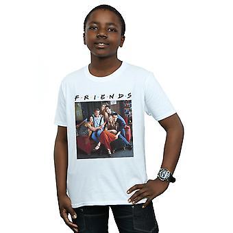 Groupe d'amis garçons Photo canapé T-Shirt