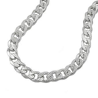 Bracelet 5, 6mm tank flat pattern Silver 925 21cm