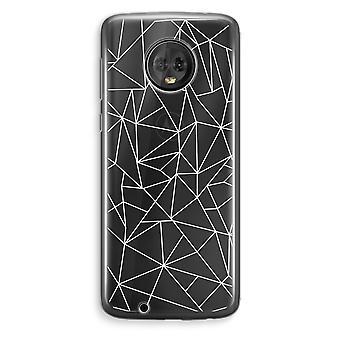 Motorola Moto G6 Plus Transparent Case (Soft) - Geometric lines white