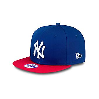 Nuova Era Royal-Scarlet-Optic MLB bianco cotone bloccare 9Fifty New York Yankees Kids