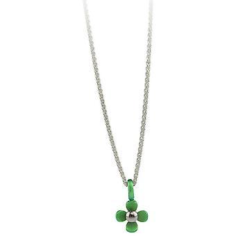 TI2 titanio quattro piccolo petalo fiore pendente - verde fresco