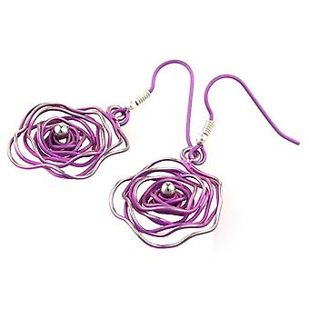 Ti2 Titanium Circular Chaos Earrings - Candy Pink