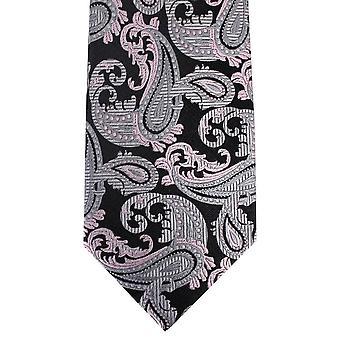David Van Hagen Paisley Tie - Black/Silver