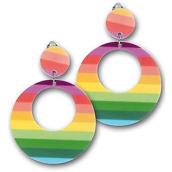 80s earrings neon hippie earclip