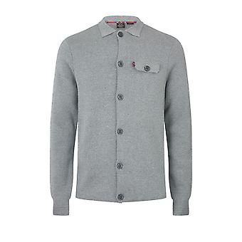 Merc RATHBONE, men's cotton milano knit work shirt with long sleeves, button fastening and chest pocket