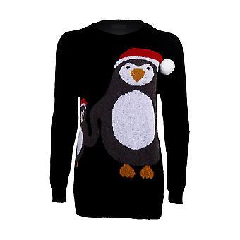 Navidad Pom Pom madre bebé pingüino festivo largo manga mujer caliente invierno puente