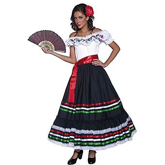 Authentic Western Sexy Senorita Costume, UK Dress 8-10