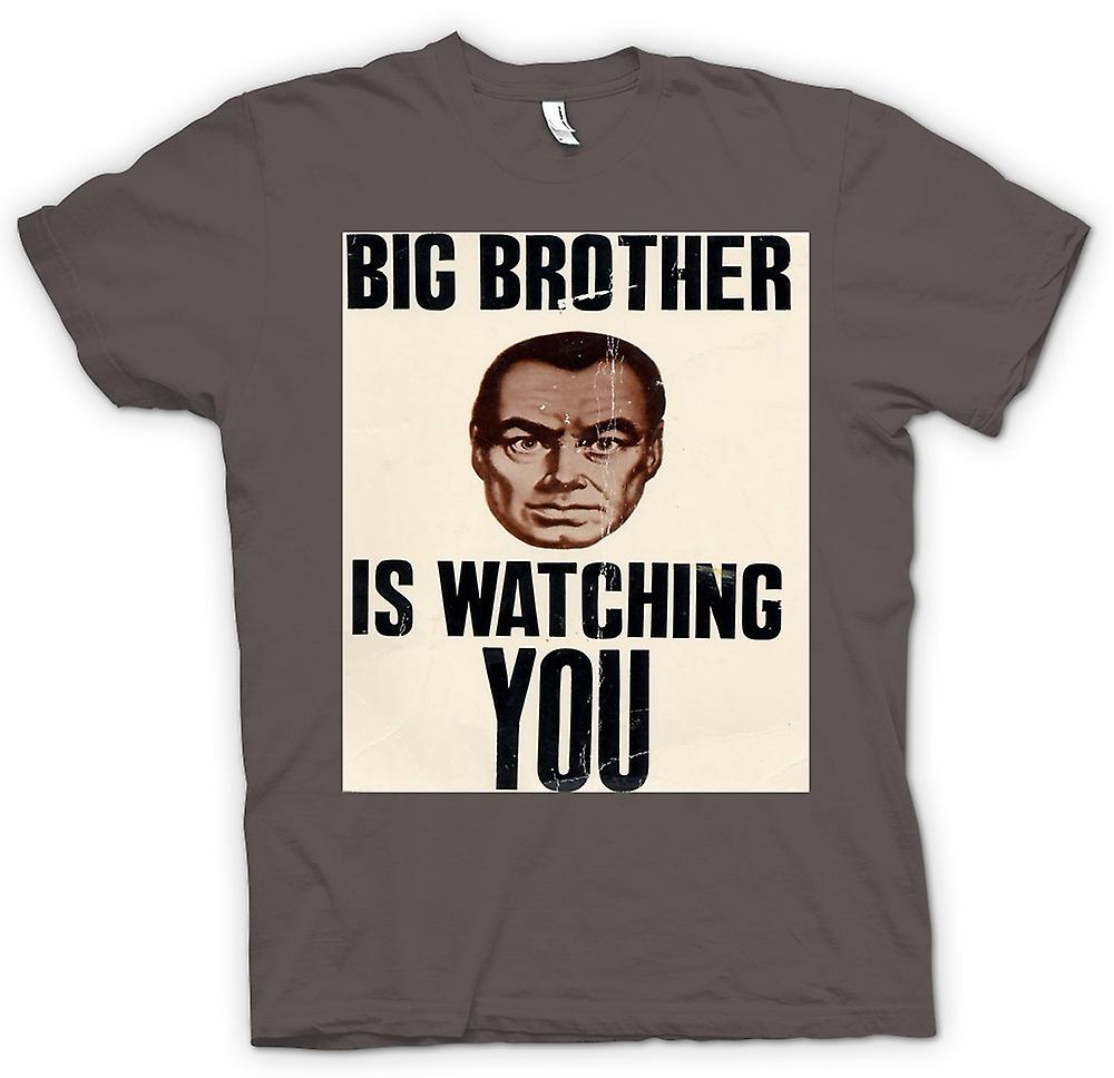 Mens T-shirt - Big Brother Is Watching You - Poster