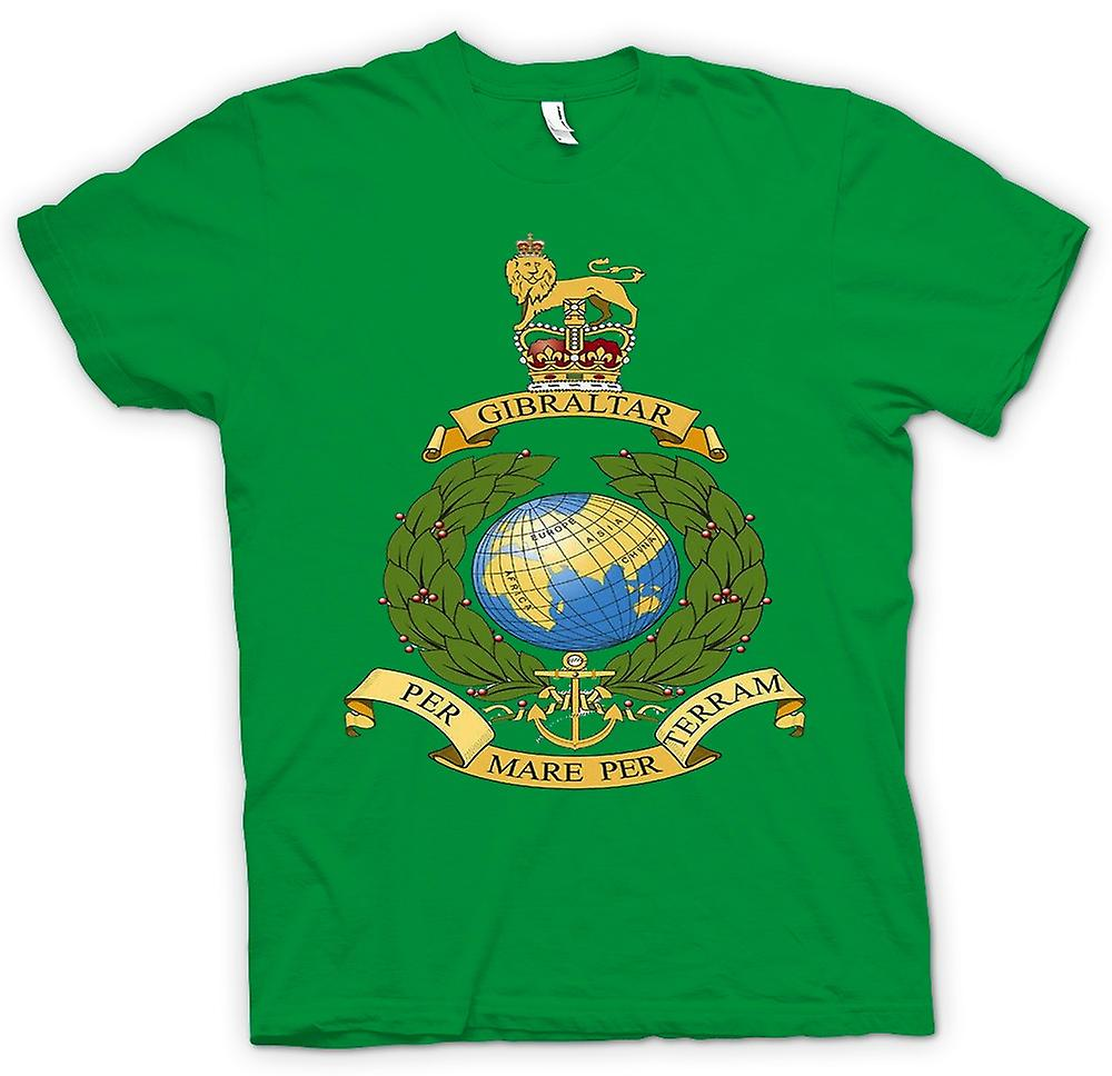 Mens t-skjorte - Royal Marine Logo - Per Mare Per Terram