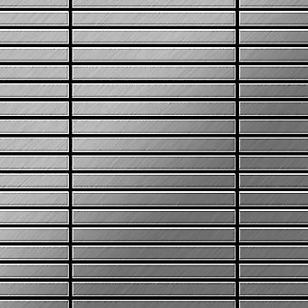 Mozaïek van massief metaal Edelstaal ALLOY Linear-S-S-MB