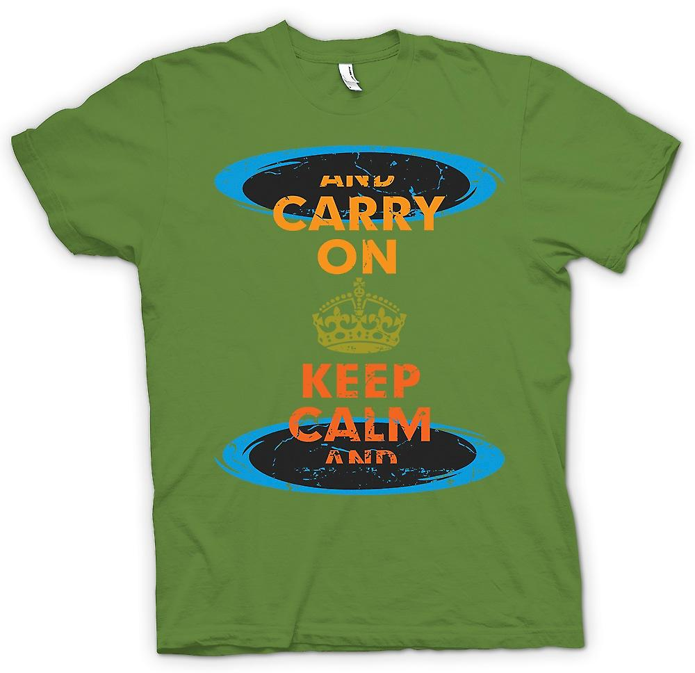 Mens t-shirt - Keep Calm And Carry On - divertente