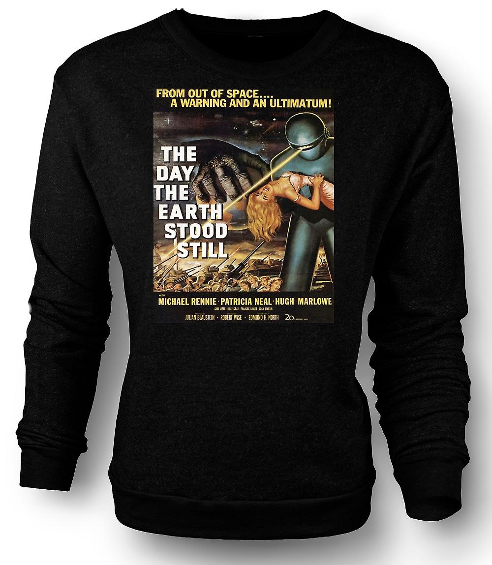 Mens Sweatshirt The Day The Earth Stood Still - B Movie