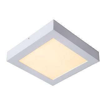 Lucide Brice-LED Modern Square Aluminum White Flush Ceiling Light
