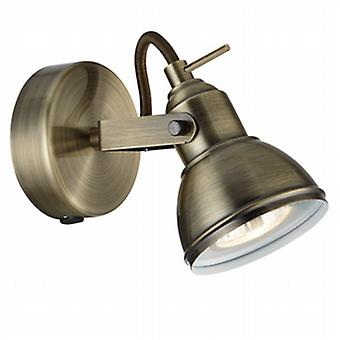 1541AB Focus Antique Brass Single spotlight