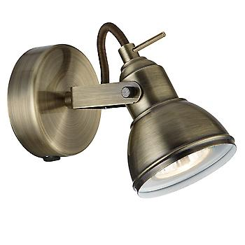 Searchlight 1541AB Focus Antique Brass Single spotlight