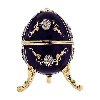 TOC Purple Faberge-Style Egg Trinket Jewellery Box