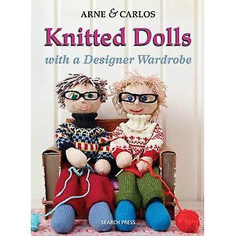 Muñecas de punto: Juguetes hechos a mano con un armario de diseño, punto de diversión para el niño en todos nosotros