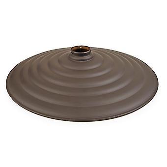 Vintage Large Brown Ribbed Metal Shade - Grok 71-4940-CI-CI